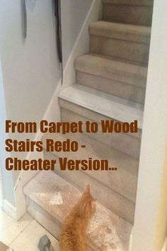 The easy way to convert your stairs from carpeting to wood.