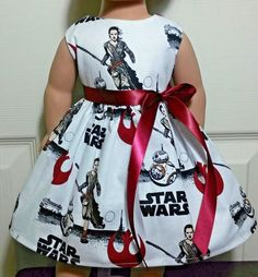 Doll Clothes/Handmade/18 Inches/American Girl Dolls/Star Wars Dress. #Handmade