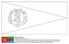 Flag of Eritrea Coloring page