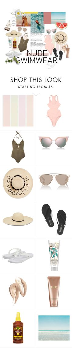 """Summer sun 2017"" by mouza-alw on Polyvore featuring JETS, Fendi, August Hat, Christian Dior, Tkees, Havaianas, La Mer, Banana Boat and Illamasqua"