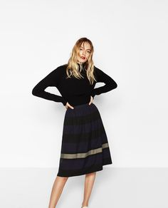 TWO-TONE STRIPED SKIRT-NEW IN-WOMAN | ZARA United States