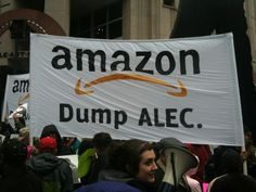 """This year the Amazon shareholder meeting is going to be different. We have so many folks inside we are 1/3 of the shareholders."" #alecexposed #dumpalec #amazon"