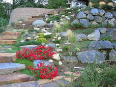 Landscaping On a Slope | this next image reinforces the power of natural style landscaping