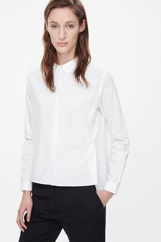 Split-front cotton shirt