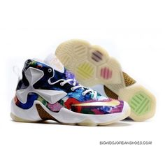 be3db78e7d2 Nike LeBron 13 Kids Shoes 25k Star Color Basketball Shoes