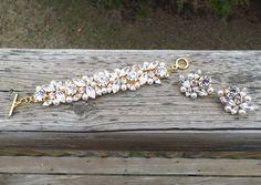 Cluster Bracelet  http://www.tiffanyrosedesigns.net/bridalcollection/cluster-bracelet
