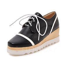 Zapatos - $48.46 - De mujer Cuñas Plataforma Tipo de tacón Cuero Zapatos…