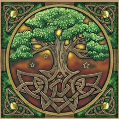 Stunning Tree of Life blank card with Celtic knot border Pagan Wiccan Freepost in Home, Furniture & DIY Cross Stitching, Cross Stitch Embroidery, Cross Stitch Patterns, Stitching Patterns, Celtic Patterns, Celtic Designs, Celtic Symbols, Celtic Art, Wiccan Symbols