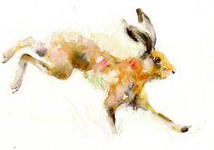 Contemporain tirage limité de peinture aquarelle par JenBuckleyArt