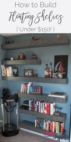 Top Floating Shelves Diy Projects Shelves Craft And Small - Diy build industrial hanging shelf