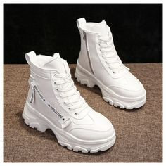 Lace Up Ankle Boots, Shoe Boots, Women's Shoes, White Heel Boots, 80s Shoes, Dance Shoes, Wide Calf Boots, Trendy Shoes, Casual Shoes