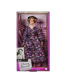 Inspiring Women Eleanor Roosevelt Doll Barbie Online, Eleanor Roosevelt, Pink Floral Dress, Barbie Collection, Human Rights, Classic Looks, Strong Women, Kids Outfits, The Incredibles