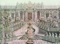 Close-up drawing of the 'Xiyang Lou' (Western mansions), as it formerly looked, Yunamingyuan (Old Summer Palace) in Beijing. Old Summer Palace, Beijing, Westerns, Louvre, Old Things, China, Mansions, Google Search, Drawings