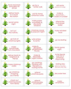 25+ family christmas activities, and free printable labels!!!  @simply kierste