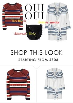 """""""STRIPES & SUEDE OCTOBER"""" by victoriabenedicte on Polyvore featuring Tory Burch, Samsøe & Samsøe, Oui and Alexander Wang"""
