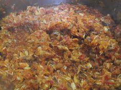 Hellena ...din bucataria mea...: Zacusca de peste (macrou) Grains, Rice, Beef, Food, Diet, Canning, Meat, Essen, Meals