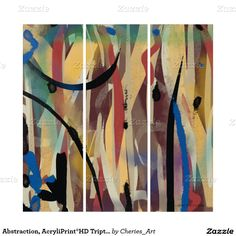 Abstraction, AcryliPrint®HD Triptych Wall Art