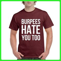 Ugo Burpees Hate You Too Match w Leggins Gym Workout Apparel Fitness Clothing Men's T-Shirt Tee - Workout shirts (*Amazon Partner-Link)
