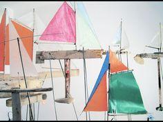 Installation of driftwood boats by Christoph Slu in Vienna Under Construction, Vienna, Driftwood, Sailing Ships, Boats, Ships, Sailboat, Boat, Drift Wood
