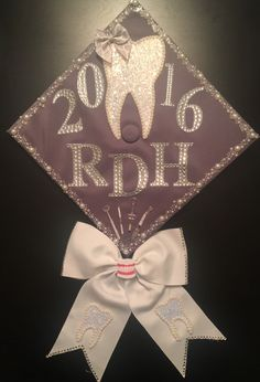 Finally a Registered Dental Hygienist! Congratulations to the Class of Tooth-Thousand Sixteen! This is my graduation cap. Materials purchased at the Hobby Lobby and Michaels craft store.