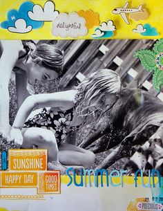 Summer Fun - by Mandy Koeppen using Amy Tangerine and Shoreline from American Crafts.