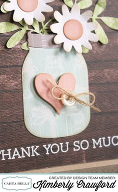 thank you so much flower jar 2 Kimberly Crawford