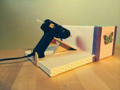 Home made hot glue gun holder