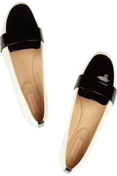 Reed Krakoff|Grosgrain and patent-leather loafers|NET-A-PORTER.COM
