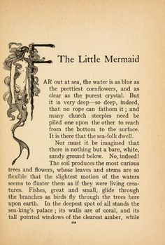 """Illustration from """"The Little Mermaid"""" in """"Fairy Tales of Hans Christian Andersen"""" illustrated by Helen Stratton. Published around Real Mermaids, Mermaids And Mermen, Hans Christian, Mermaid Quotes, Mermaid Fairy, Mermaid Tears, Vintage Mermaid, Merfolk, Magical Creatures"""