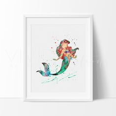 Disney Little Mermaid Ariel Princess Nursery Art