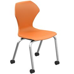 Apex apple green mobile teacher 39 s chair or student lab for Computer lab chairs for schools