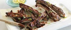 Sticky Plum and Ginger Pork Spare Ribs recipe from Food in a Minute