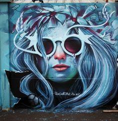 Street Art Sheffield. Mural by artist Rocket 01. Arundel Street, Sheffield, UK. Taken May 2015.