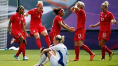 Canada scored a dramatic injury-time winner to defeat France and claim bronze in the women's Olympic football tournament with a 1-0 victory.