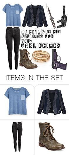 """""""He Realizes His Feelings For You: Carl Grimes"""" by mcglitterpawz ❤ liked on Polyvore featuring art"""
