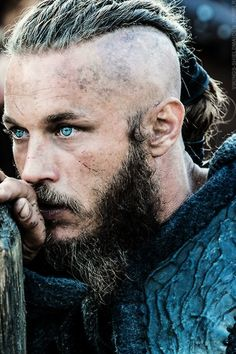 Travis Fimmel as Ragnar. Those eyes! I have to say he is so much hotter all rough and tumble instead of his pretty boy mpdel style