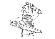 Princesse Nya coloring page for girls, Ninja go coloring page printable