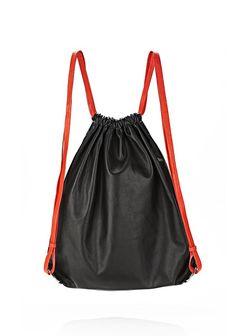 GYM SACK IN BLACK GLOVE - Backpacks Women - Alexander Wang Online Store