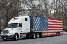 patriotic truck