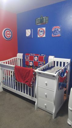 Harrisons Chicago Cubs Nursery Baseball Room