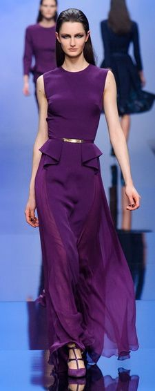 Elie Saab.  Beautiful purple couture gown