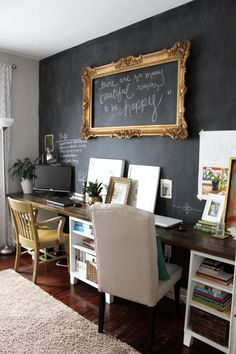 Less-Than-Perfect Life of Bliss: Chalkboard Walls: What's Your Take?