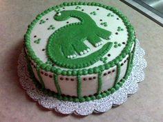 Little Boy's Dinosaur Cake