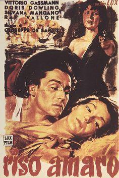 Vintage Italian Posters ~ #illustrator  #Italian #vintage #posters ~ Riso amaro - Bitter Rice ~ Movie Poster