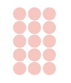 Mevrouw Aardbei 15 muurstickers cirkel oud roze 5 cm
