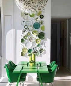 Love, love, love the plates on the wall