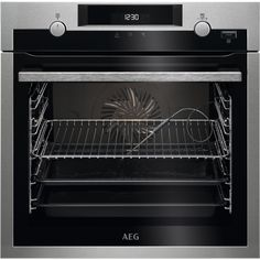 HGB64420YM   AEG Gas Hob   4 Burners   ao.com Built In Electric Oven, Single Electric Oven, Single Oven, Stainless Steel Grades, Stainless Steel Oven, Black Appliances, Kitchen Appliances, Four Halogène, Grilled Spare Ribs