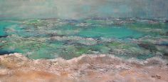 Caribbean Seascape Abstract Painting