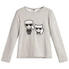 7cc3567c43b Childrensalon Karl Lagerfeld Kids, Dope Outfits, Long Sleeve Tees, Kids  Girls