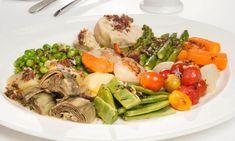 Receta de Panaché de verduras al vapor con vieiras